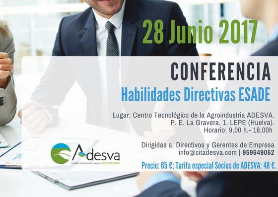 El Centro Tecnológico ADESVA organiza una Conferencia sobre Habilidades directivas impartidas por ESADE